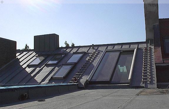 schiebet re in der dachfl che als dachausstieg. Black Bedroom Furniture Sets. Home Design Ideas